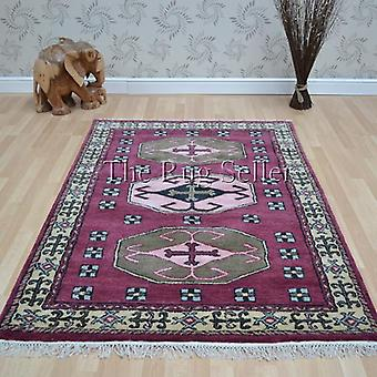Kazak 1277 tradicionais tapetes vermelho