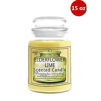1 x Arome Pur 15 Oz Elderflower Lime Scented Candle