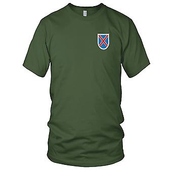 Amerikanske hær - 10th Mountain Division Flash broderet Patch - Herre T-shirt