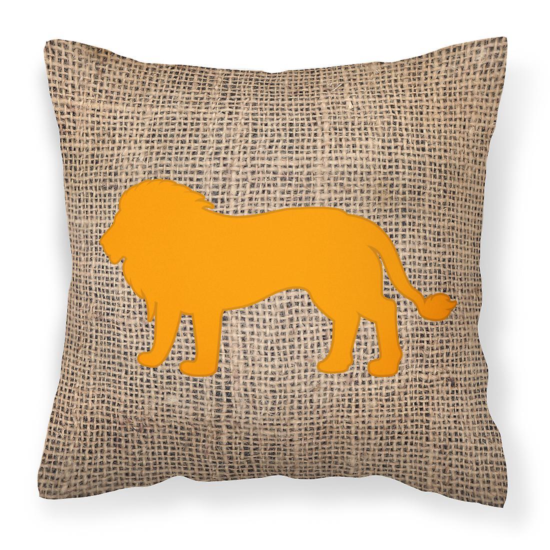 Décoratif Et Tissu De Orange Bb1009 Lion Toile Jute Oreiller 4RjLA5