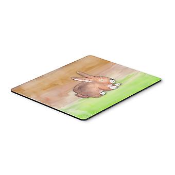 Carolines Treasures  BB7410MP Rabbit Watercolor Mouse Pad, Hot Pad or Trivet