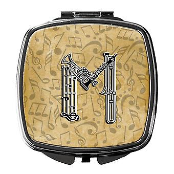 Letter M Musical Instrument Alphabet Compact Mirror