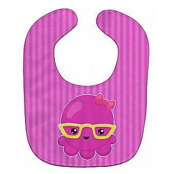 Carolines Treasures  BB8909BIB Nautical Pink Octopus with Glasses Baby Bib
