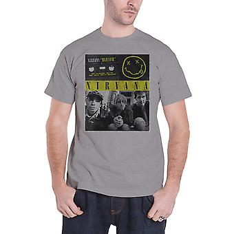 Nirvana T Shirt Bleach Tape Photo band logo new Official Mens Grey