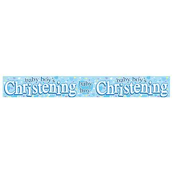Expression Factory Baby Christening Holographic Foil Banner
