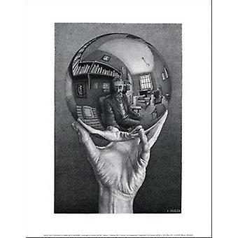 Hand mit Kugel - MC Escher Poster Plakat-Druck