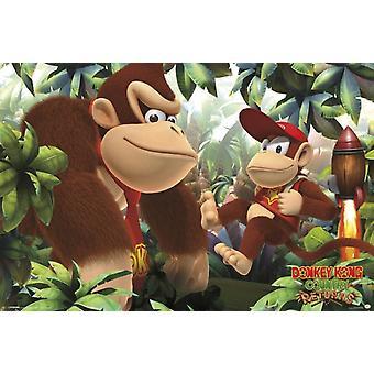 Donkey Kong & Diddy Kong Poster Plakat-Druck