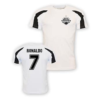 Cristiano Ronaldo Real Madrid sport Training Jersey (vit)