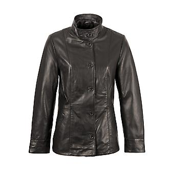 Buttermere Leather Jacket in Black