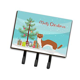 Carolines Treasures  BB9237TH68 Weasel Christmas Leash or Key Holder