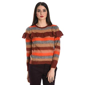 Jucca Damen J26110961466 Bordeauxrot/Rot Wolle Sweater