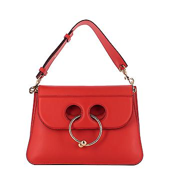 J.W.. Anderson women's HB02JWA404450 red leather shoulder bag