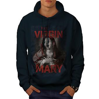 Virgin Mary Cool Funny Men NavyHoodie | Wellcoda