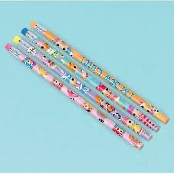 Party Bag Fillers | LALALOOPSY | HB Pencils with Erasers | 12 Pencils
