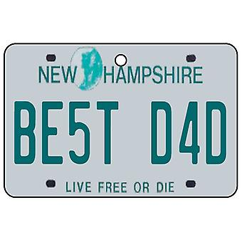 New Hampshire - Best Dad License Plate Car Air Freshener