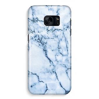 Samsung S7 Full Print Case - blå klinkekule