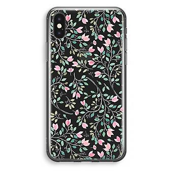 iPhone X Transparant Case - zierliche Blumen