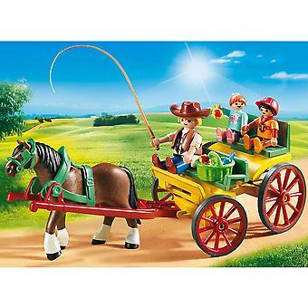 Playmobil land paarden getrokken wagen