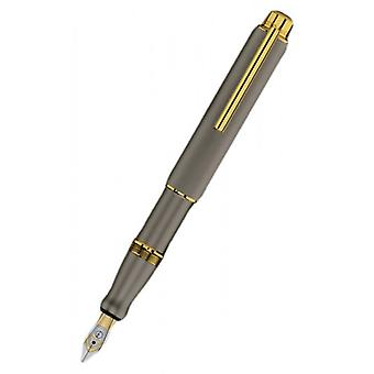 Otto Hutt Design 5 Fountain Pen - Grey/Gold