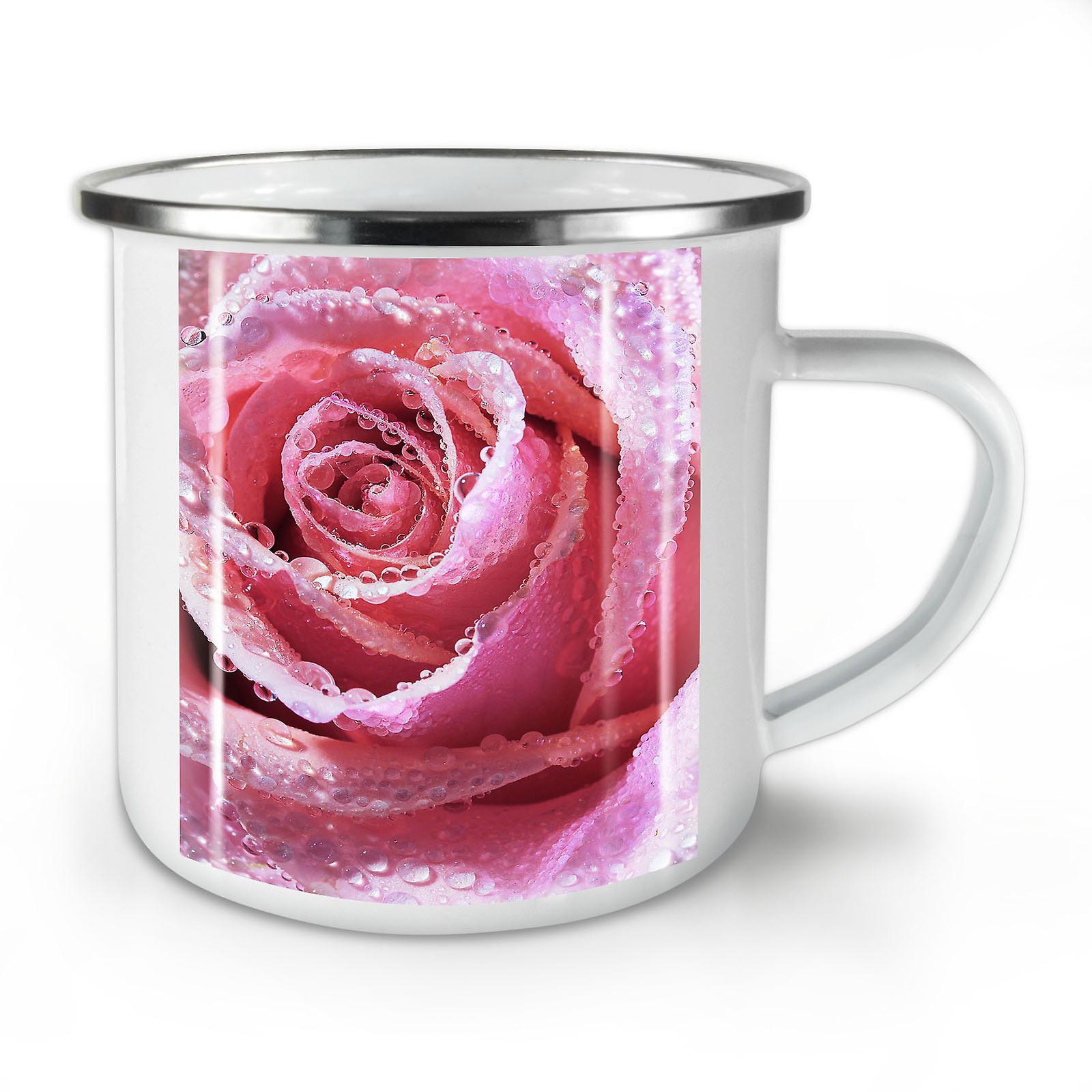 Café Mug10 Print Nouveauté Nouveau L'émail Whitetea Rose OzWellcoda MpqUVGSLz