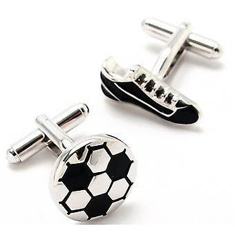 Fotboll Boot och Ball som nyhet sport manschettknappar bröllop Business hög kvalitet