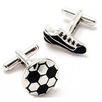 Football Boot And Ball Set Novelty Sports Cufflinks Wedding Business High Quality