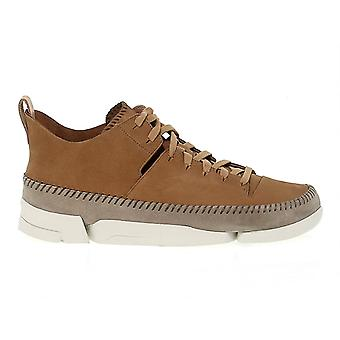 Clarks men's TRIGENIBROWN brown leather of sneakers