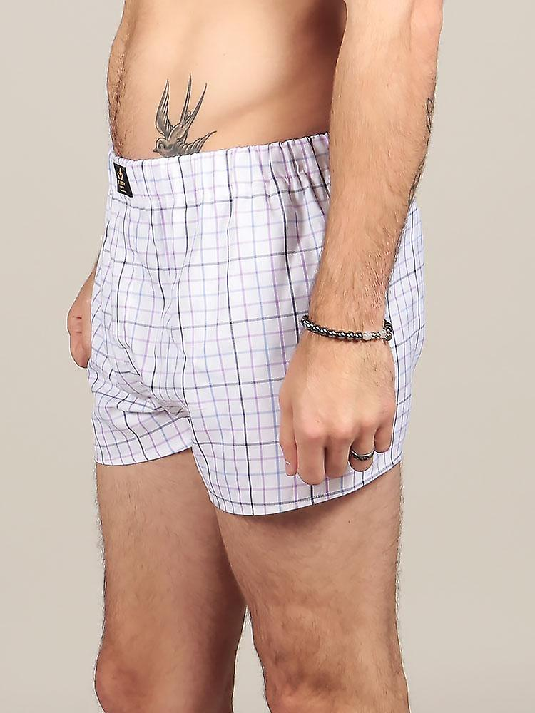 Chequered Cotton Boxers – Multicoloured