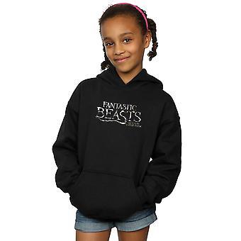 Fantastic Beasts Girls Text Logo Hoodie