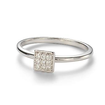 Forever Classic 1.4mm Moissanite Square Pave Ring
