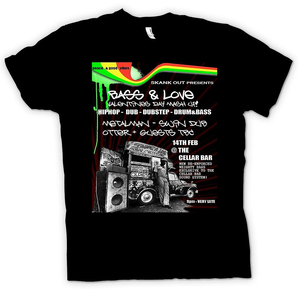 Mens T-shirt - Bass & Love - Hip Hop - Dub