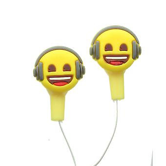 Emoji Headphone Face Earphones With Silicone Comfort Buds For Phones & Tablets