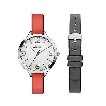 s.Oliver kvinnors watch armbandsur läder SO-3239-LQ