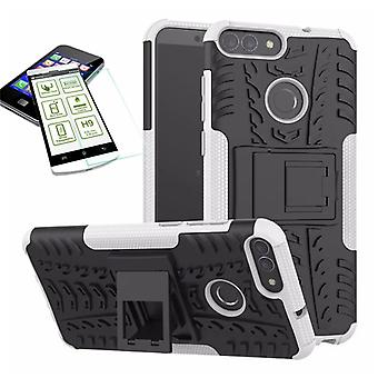 For Huawei P smart hybrid case 2 piece white + bulletproof bag case cover sleeve