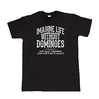 Life Without Dominoes, Mens Funny T Shirt