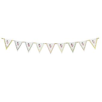 Truly Chintz Paper Bunting Vintage Floral 3m Tea Party