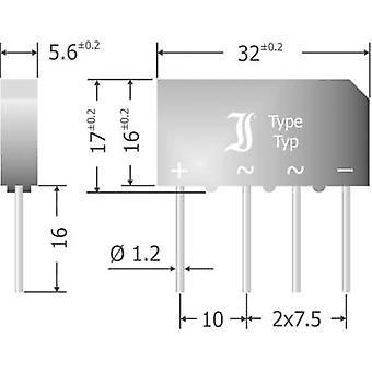 Diotec B500C7000-4000 a Diode pont SIL 4 1000 V 7 A 1 phase