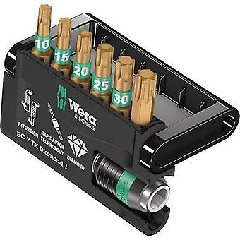 Bit set 7-piece Wera Bit-Check 7 TX Diamond 1 05057415001 TORX socket BiTorsion