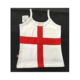 Union Jack Wear St George England Strappy Vest Top - Ladies