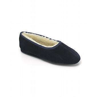 Ladies Ayr Sheepskin Slippers - Navy