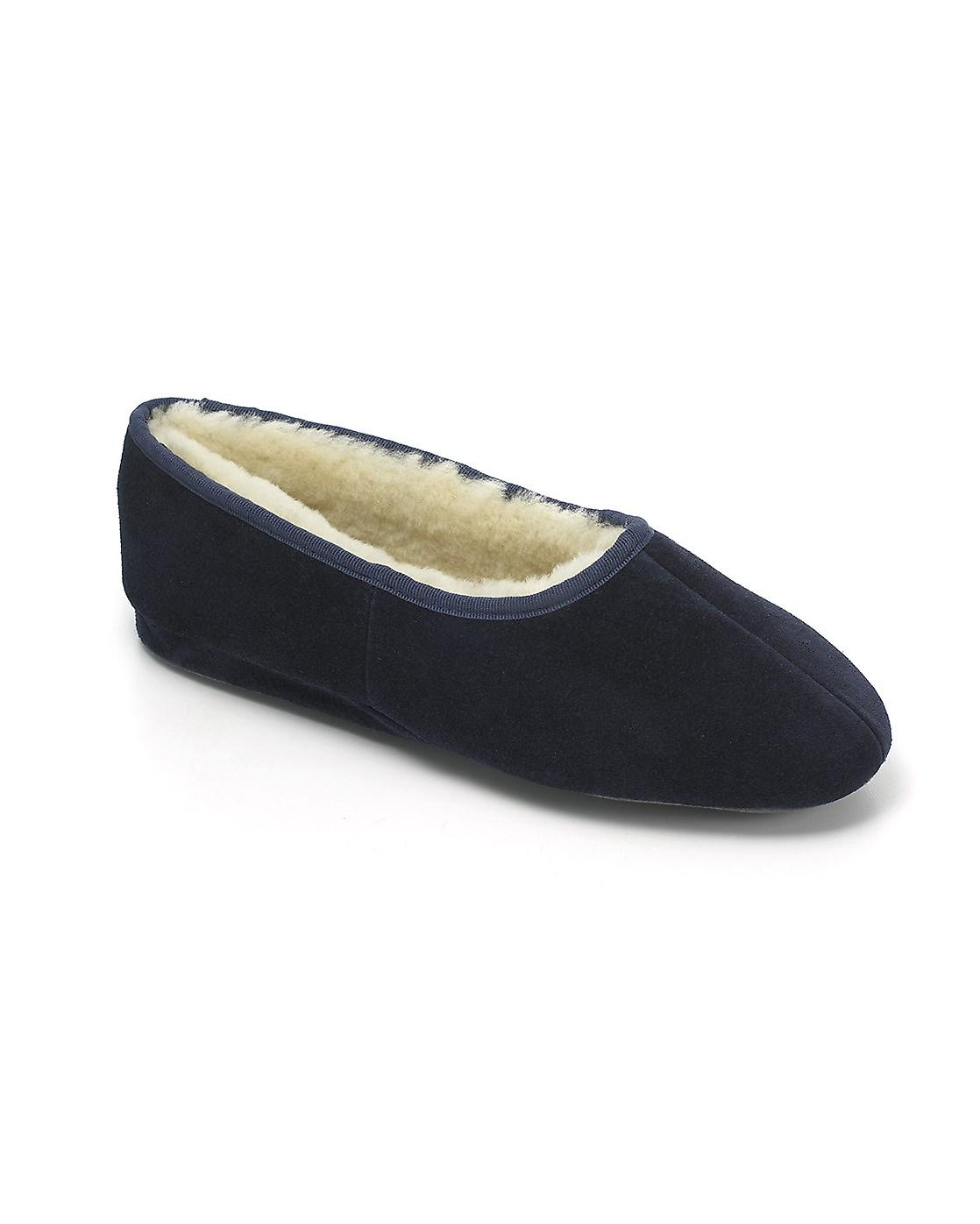 Ladies Ayr Schapenvacht Slippers - Navy