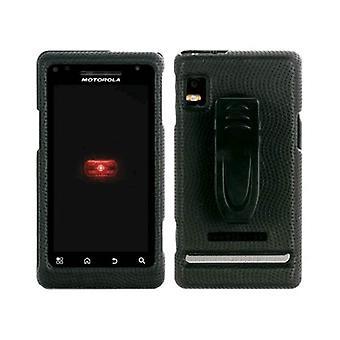Guante Motorola Droid 2 A955 Snap-On caso del cuerpo (negro) (empaquetado a granel)