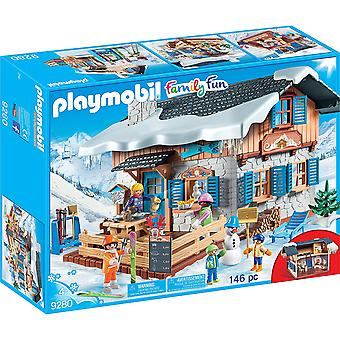 PLAYMOBIL 9280 famille Action Fun Ski Lodge Figure Playset