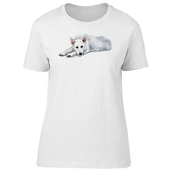White Shepherd Dog Tee Women's -Image by Shutterstock