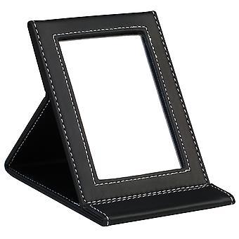TRIXES nero ecopelle pieghevole Mirror