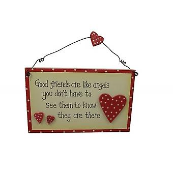 Good Friends Are Like Angels Sentimental Gift Plaque
