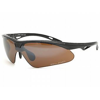 **SALE**Bloc Shadow Matt Black Gun Badge Sports Sunglasses (S11 Smoke Lens)