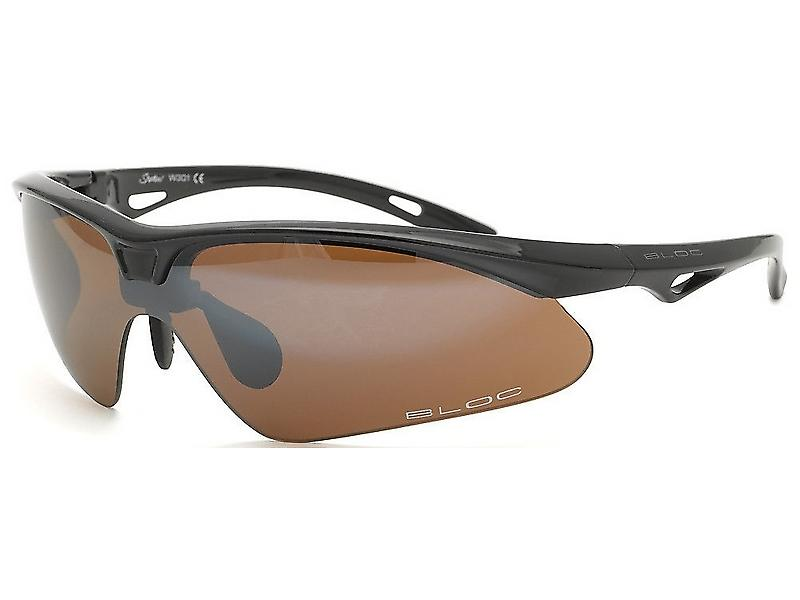 Bloc Shadow Matt Black Gun Badge Sports Sunglasses (S11 Smoke Lens)