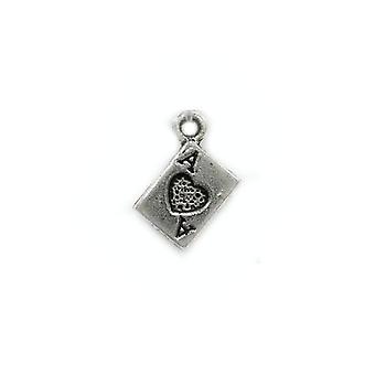 Paquete 40 x antiguos plata tibetana 7mm naipes encanto/colgante ZX09515