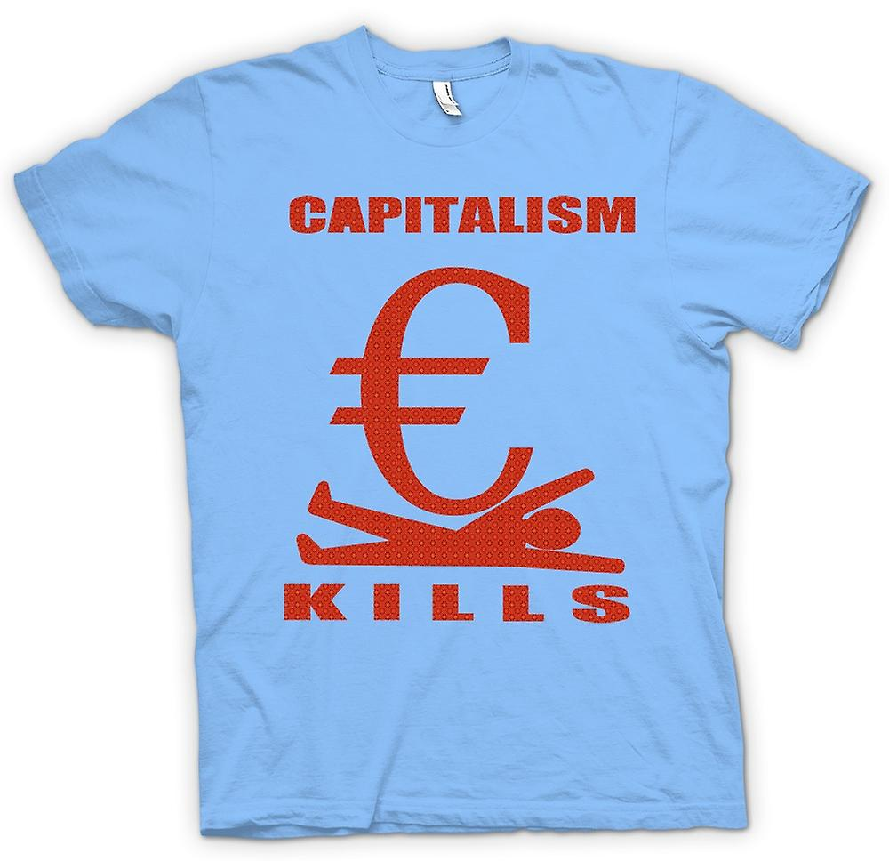 Heren T-shirt - kapitalisme Kills - G20